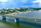 Мост через Обьг. Барнаул